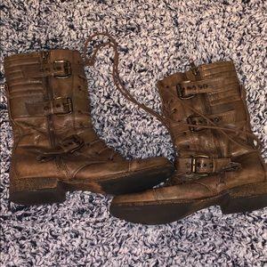 Steve Madden Dark Brown Combat boots